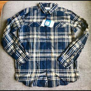 Mens Columbia Notre Dame ButtonDown Flannel Shirt